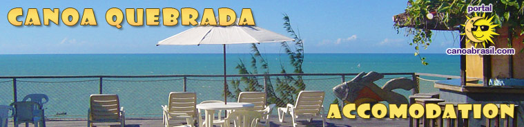 Accommodation in Canoa Quebrada Ceara Brazil. Hotels, inns, houses and apartments